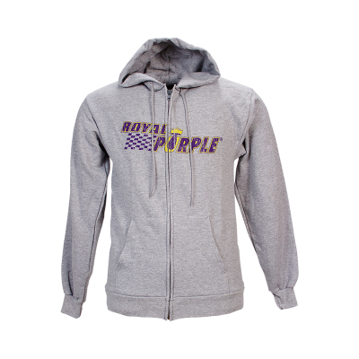 Royal Purple Unisex Zip Hoodie - Grey
