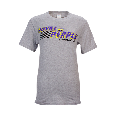 Royal Purple T-Shirt - Heather Grey