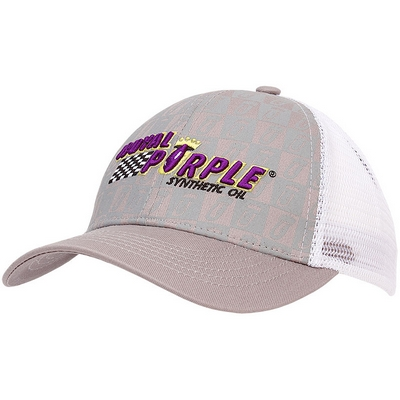 Royal Purple Structured Mesh Hat - Grey