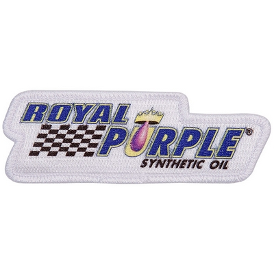 Royal Purple Patch - White
